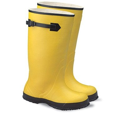 Radnor 64055844 17'' Rubber Over the Shoe Boots Ribbed Outsole, Size 11, Yellow