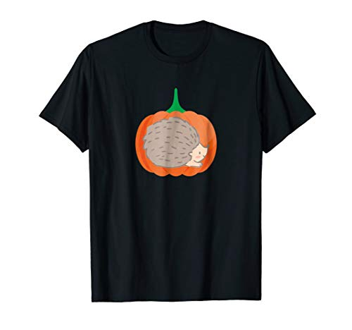 Pumpkin Cute Hedgehog Halloween T-Shirt