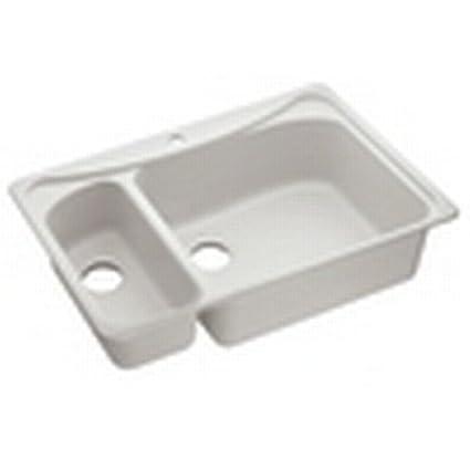 Moen Moenstone 25450V Kitchen Sinks Ivory - Double Bowl Sinks ...