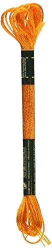 - DMC 1008F-S741 Shiny Radiant Satin Floss, Tangerine, 8.7-Yard