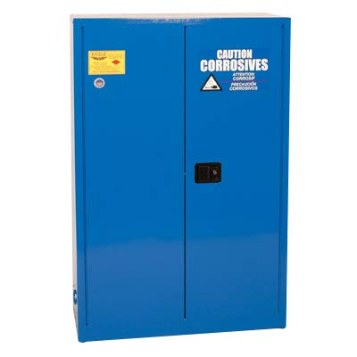 Eagle CRA-47 Safety Cabinet for Corrosive Liquids, 2 Door Manual Close, 45 gallon, 65
