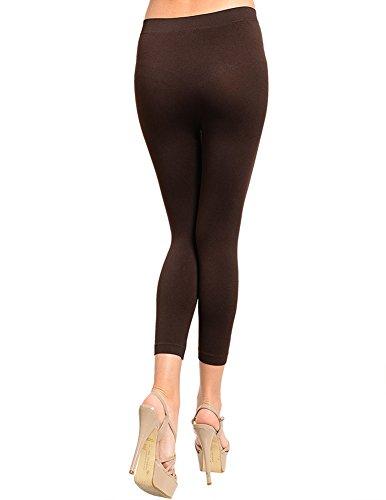 Sofra Seamless Capri Yoga Leggings