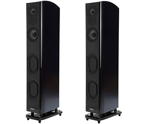 Polk Audio Home Theater System | 2 LSiM705 Superior Performance Floor-Standing Tower Speakers (Midnight Mahogany)
