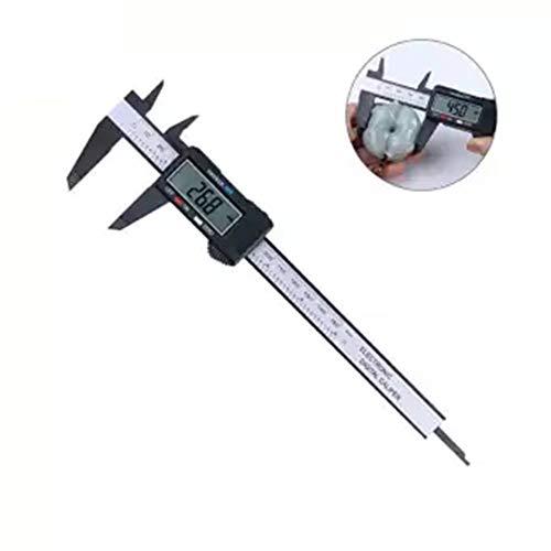 Pantalla digital electr/ónica Vernier Caliper 0-150Mm Di/ámetro interno de la herramienta de medici/ón del calibrador de la pantalla digital de pl/ástico Negro