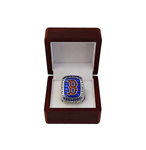BOSTON RED SOX (Mookie Betts) 2018 WORLD SERIES CHAMPIONS Rare Collectible High-Quality Replica Baseball Championship Ring with Cherrywood Display Box