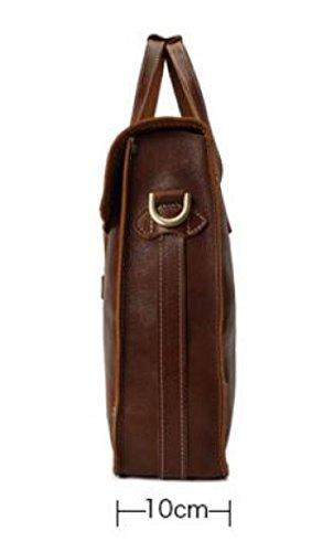 Hombres De Cuero Retro De Los Hombres 'paquete De Zurriago Bolsa De Moda De La Bolsa De Hombro Bolsa De Mensajero Bolsa De Ordenador A