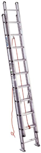 Werner D524-2 375-Pound Duty Rating Type 1AA Aluminum D-Rung Extension Ladder, 24-Foot