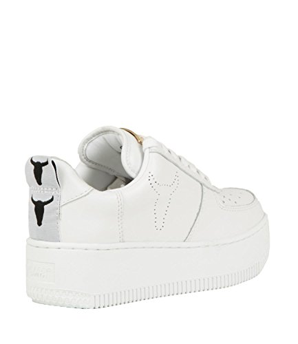 Bianco Collo Velvet Smith Racerr Alto Donna Windsor Sneaker a 6WqURa8aFn
