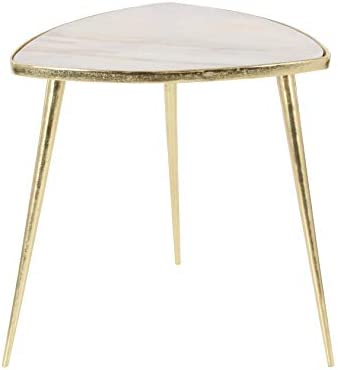 Deco 79 Aluminum and Marble Table