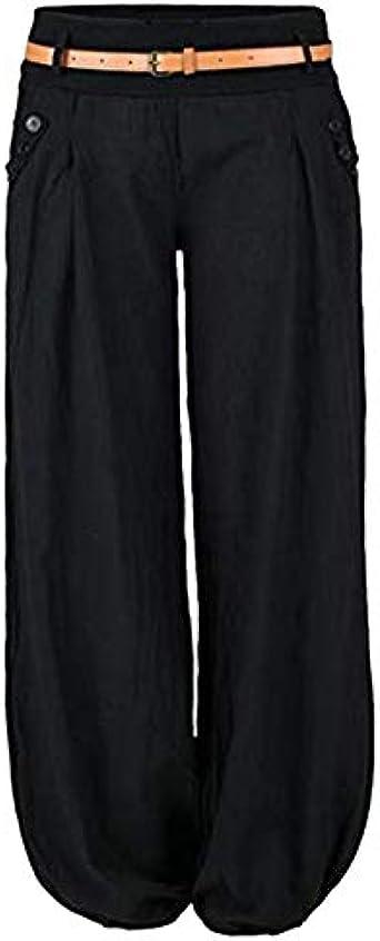 Litthing Pantalones Anchos De La Pierna Suelto Pantalon Haren Harem Casual Wide Leg Holgados Bloomers Moda Para Mujer Amazon Es Ropa Y Accesorios