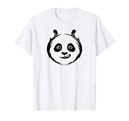 Kung Fu Panda Po Face Outline Sketch T-Shirt