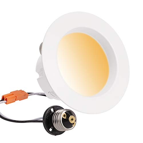 LOHAS LED Downlight, Smart WiFi Light, Dimmable Retrofit Lighting, Tunable White 2000k-6500k, E26 Base, 10W(65W Equivalent) Recessed Lights 4 Inch, Voice Control Smart