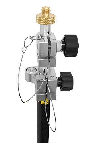 - 3.5./12ft GPS Aluminum Rover Rod Carbon Fiber