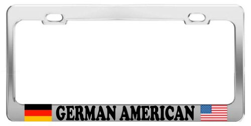 product-express-german-american-proud-chrome-steel-tag-holder-license-plate-frame