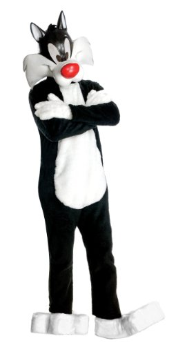 Looney Tunes Supreme Edition Sylvester Cat, Black, (Sylvester Cat Halloween Costume)