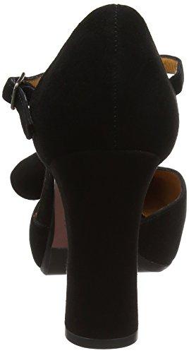 Chie Mihara Damen D-dubi31 T-Bar Black (Ante Negro)