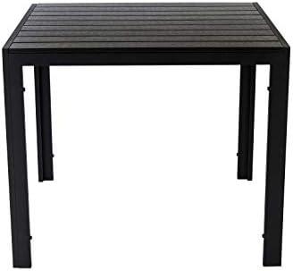 AVANTI TRENDSTORE – Limana – Tavolo da Giardino con Telaio in Metallo e Piano Tavolo in Polywood. Disponibile in 2 Misure Diverse (Lap 90x74x90 cm)