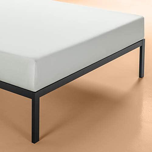 Zinus Mia Modern Studio 14 Inch Platform 1500 Metal Bed Frame / Mattress Foundation / No Box Spring Needed / Wooden Slat Support / Good Design Award Winner / Black, Queen 31SKIXtHZ4L