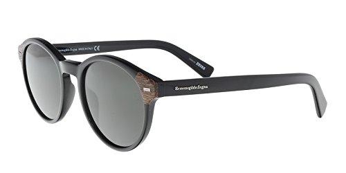 Ermenegildo Zegna EZ0081 Sunglasses 51 01A Shiny Black - Zegna Sunglasses