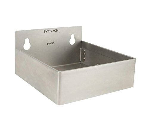 Stainless Steel Storage Bin For System X Pegboard- Large 6'' x 6'' X 3'' by System X Storage