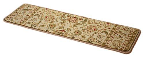 Bergama Runner Rug - Dean Premium Carpet Stair Tread Rugs - Bergama Ivory 31