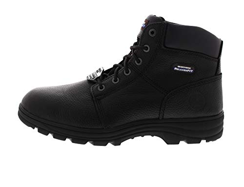Ankle Safety Workshire Laced Skechers Boots Relaxed Negro Fit Mens qBHn7Yw