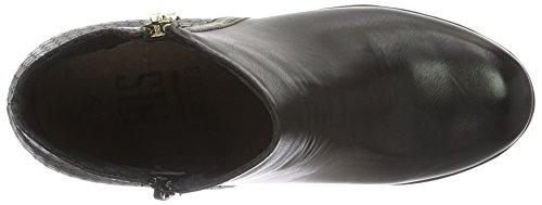 HIS 46205, Zapatillas de Estar por Casa para Mujer Negro