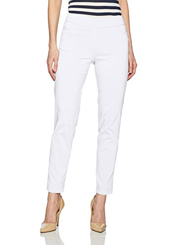 White Womens Pants - SLIM-SATION Womens Ankle Pant, White, 10