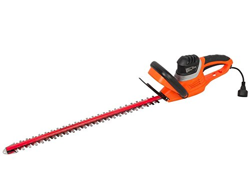 Cheap GARCARE 4.6-Amp Corded Hedge Trimmer with 24-Inch Laser Cutting Blade, Blade Cover Included