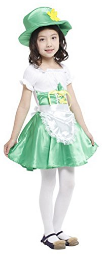 La Vogue Kids Girls Irish Green Fairy Costumes Party Fancy Dress (Irish Costumes For Kids)