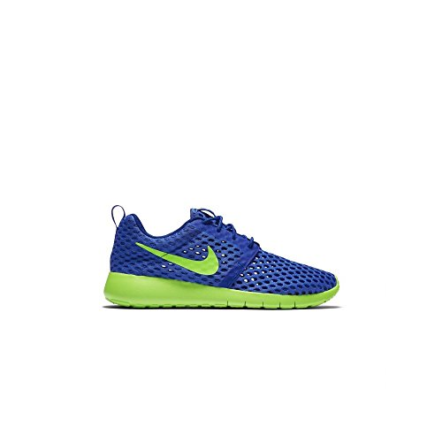 Nike Kid's Roshe One Flight Weight GS, RACER BLUE/ELECTRIC GREEN, Youth Size 6 (Boys Nike Roshe Size 6)