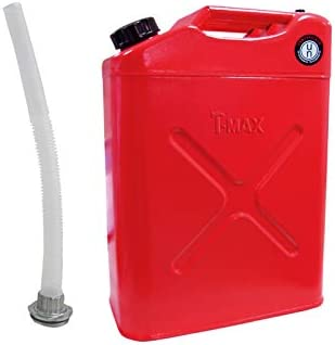 T-MAX Bid/ón met/álico Jerry-Can 20L para combustible con vaciador