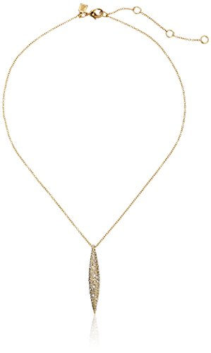 Alexis Bittar Crystal Encrusted Short Spear Pendant Necklace