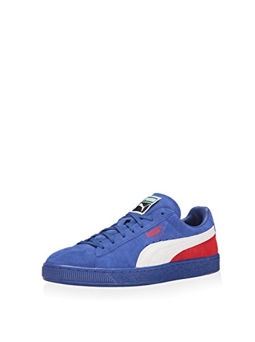 PUMA Men's Suede Classic + Blocked Limoges/White/High Risk Red Sneaker 11.5 D (M)