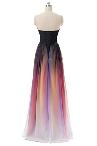 Albrose Trapèze Sweetheart Manche Robe Sans Neckline Femme Purple rwqCrz7
