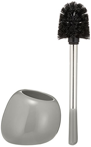 (WENKO 20389100 Toilet brush Polaris Grey, Ceramic, 5.9 x 13.6 x 5.7 inch, Grey)