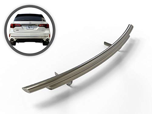 Vanguard VGRBG-0777-0896SS Stainless Steel Double Layer Rear Bumper Guard Compatible with 14-19 Acura MDX Acura Mdx Rear Bumper