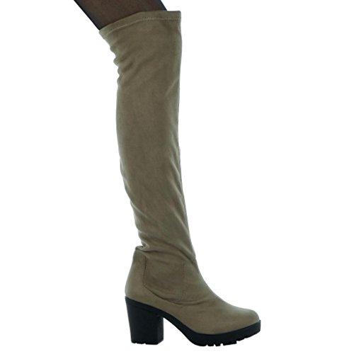 Altezza Cm ginnastica alti flessibile AngkorlyScarpe Donna Tacco alla Stivali Cm moda da alto 8 qpMUSzVG