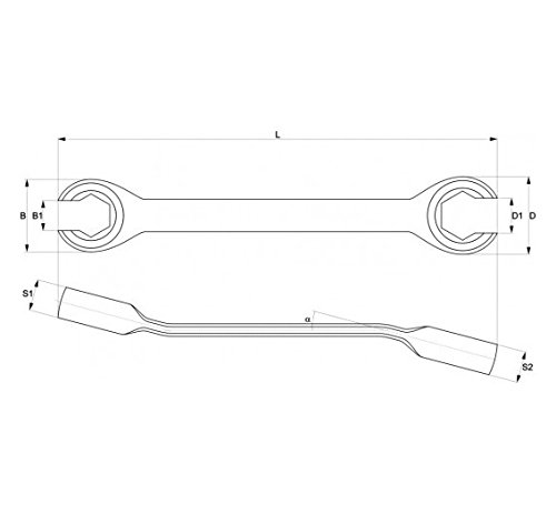 8/ Yato YT-0143 Two Flat Spanners /17/mm Holes