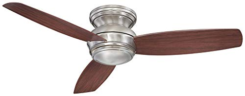 Minka-Aire F594L-PW, Traditional Concept LED Ceiling Fan, Pewter Finish with Dark Maple ()