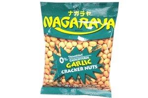 nagaraya cracker nuts (garlic flavor) - 5.6oz [12 units] (731126104166)