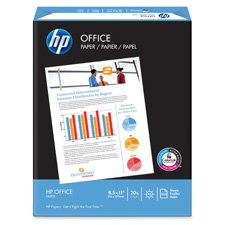 """HP Paper, 20Lb, 92 GE/102 ISO, 8-1/2""""x11"""", 5000SH/CT,White, Sold as 1 Carton"""
