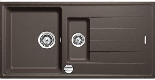 Granitspüle Creme Beige 100x50cm Küchenspüle Einbau Spülbecken ab 60er Schrank