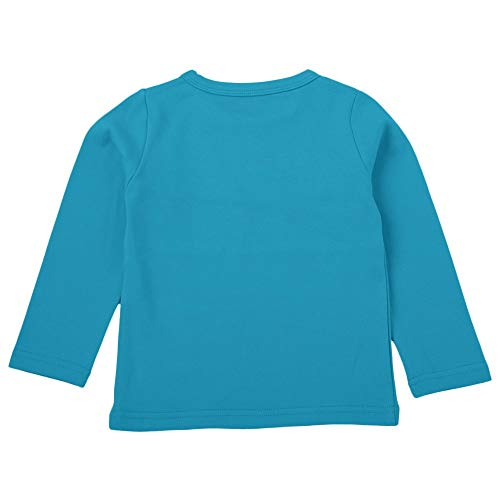 NUWFOR Children Kid Baby Girls Boys Catoon Solid T-Shirt Tops Shirts Tee Casual Clothes(Blue,5-6 Years
