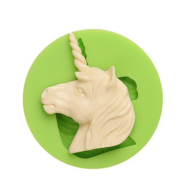 WWQY Western Myths and Legends Unicorn Shape Silicone Molds for Candy Chocolate and Cookie Color Random