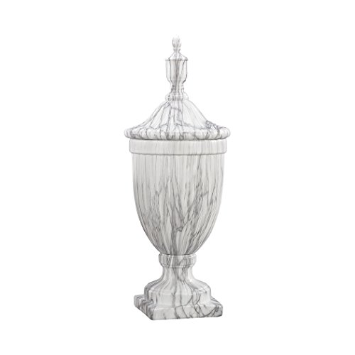 Faux Marble Urn - Hamptons Collection Neuchatel Faux Marble Ceramic Urn - Large