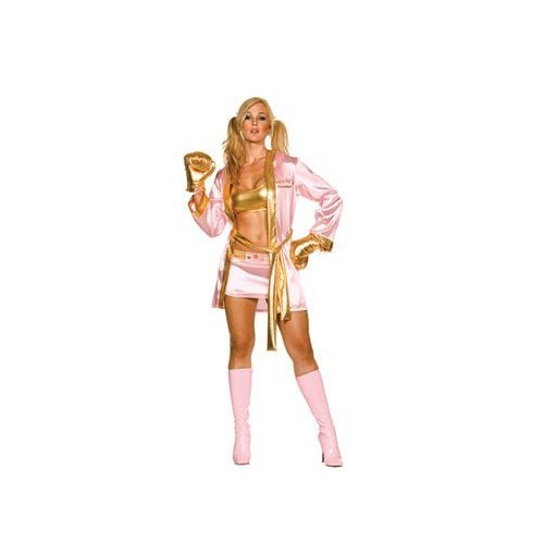 [Dreamgirl 5047 World's Greatest Boxer Costume (As Shown;Large)] (Womens Boxing Costumes)