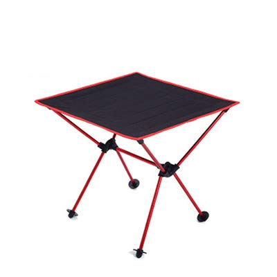 OTTAB Outdoor Camping Folding Table Camping Aluminium Alloy Picnic Table Waterproof 600Doxford Durable Folding Table Desk for Picnic Red Wine