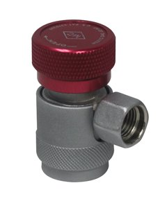 (Mastercool 82834-SL Red/Silver 14mm-F x 16mm High-Side Manual R134a Safety Lock Coupler)