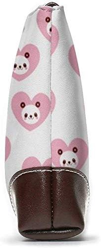 GLGFashion Portefeuille Clutch Cute Panda Leather Wristlet Clutch Purses Bag Crossbody Clutch Wallet Handbags For Women